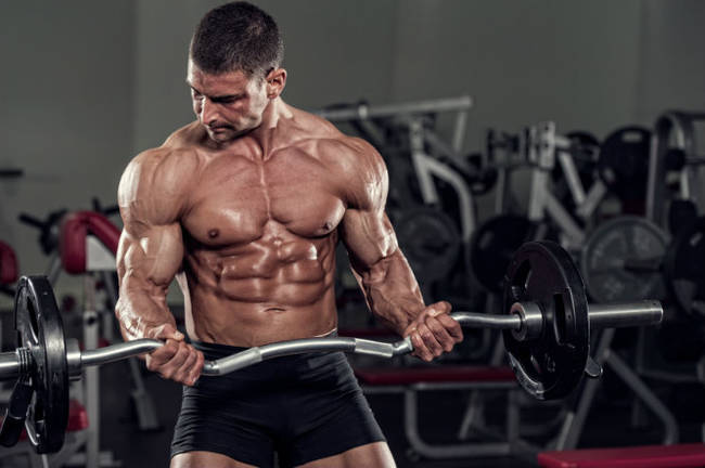 Jacked guy on nitric oxide supplements